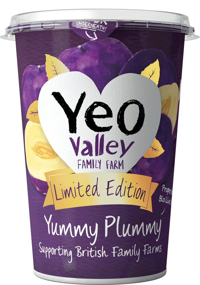 Yeo Valley Organic Ltd edition plum yogurt