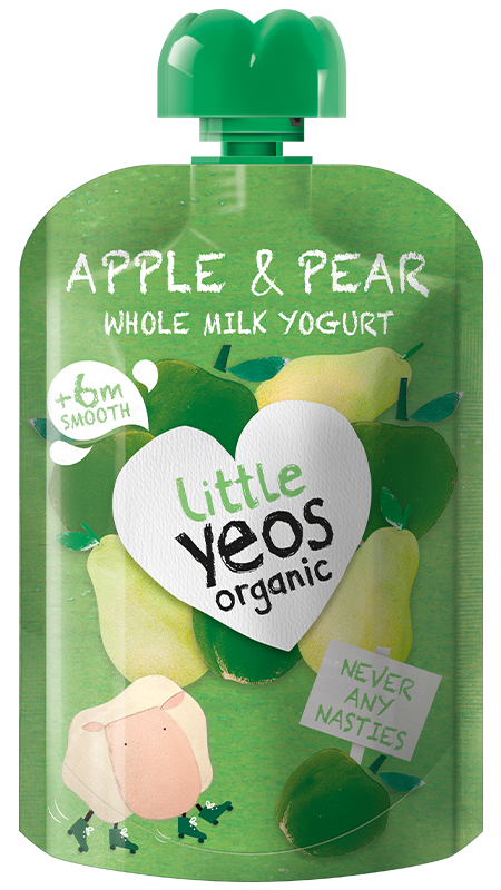 Yeo Valley Organic Apple and Pear children's yogurt pouch