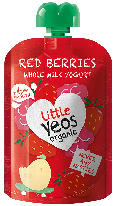 Yeo Valley Organic Red Berry children's yogurt pouch