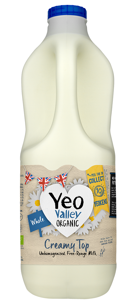 Yeo Valley Organic unhomogenised Whole Milk