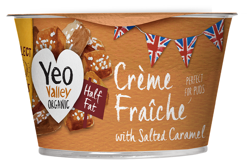 Yeo Valley Organic Salted Caramel Sweet Creme Fraiche