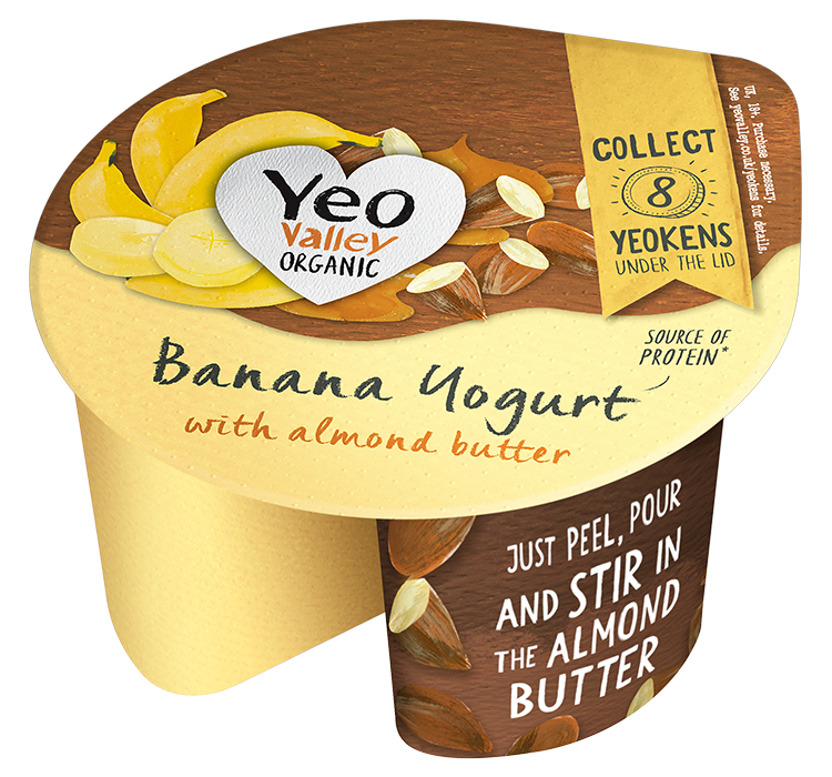 Yeo Valley Organic Almond butter and Banana Yogurt