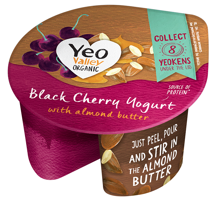 Yeo Valley Organic Almond butter and Cherry Yogurt