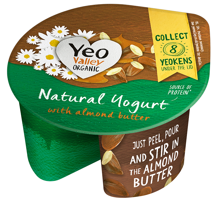 Yeo Valley Organic Almond butter and Natural Yogurt
