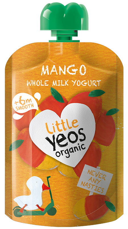 Yeo Valley Organic Mango children's yogurt pouch