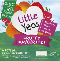 Little Yeos Fruity Favourites yogurts for children