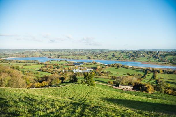 Yeo Valley view of the lake