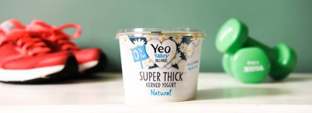 Yeo Valley organic super thick kerned yogurt
