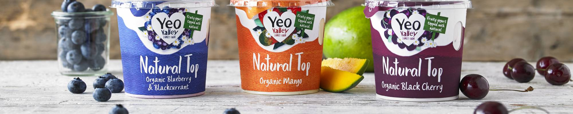 yeo valley organic yogurt natural top range