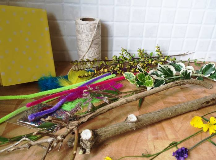 Make a Nature wand from things found in your garden