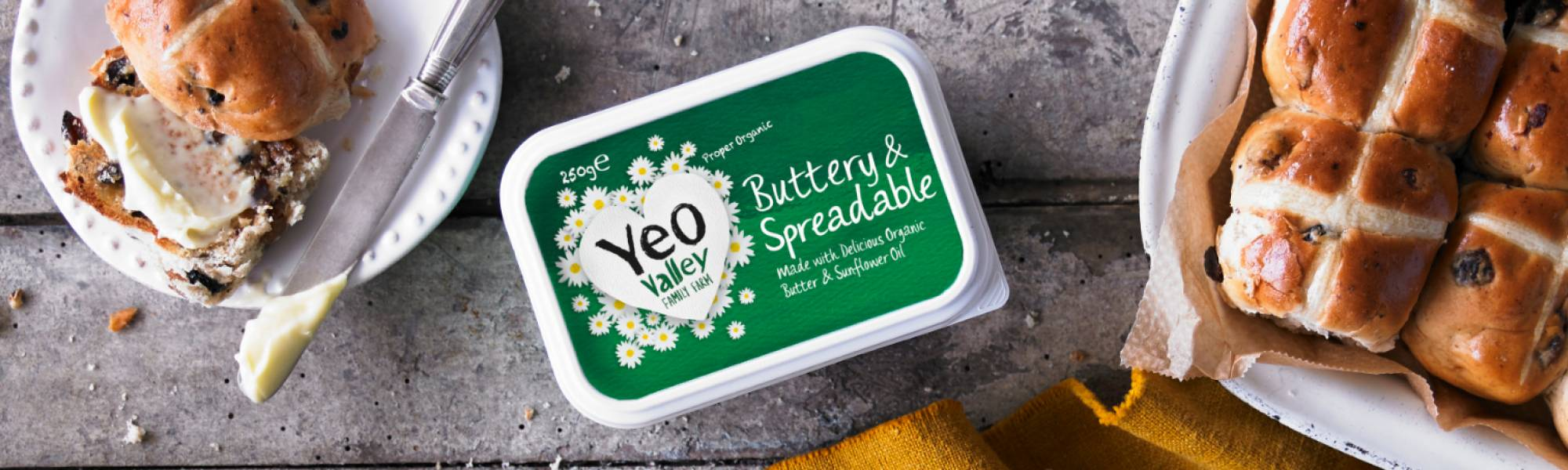 Yeo Valley Organic Spreadable Butter great with hot cross buns