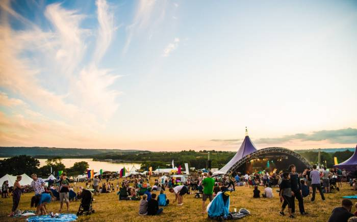ValleyFest image of Chew Valley Lake from the festival