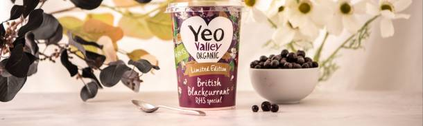 RHS Chelsea Flower Show Yeo Valley Organic Limited Edition yogurt