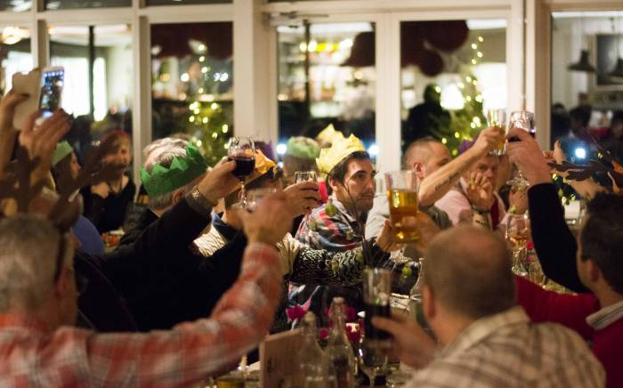 Christmas dinner event at Yeo Valley in Somerset