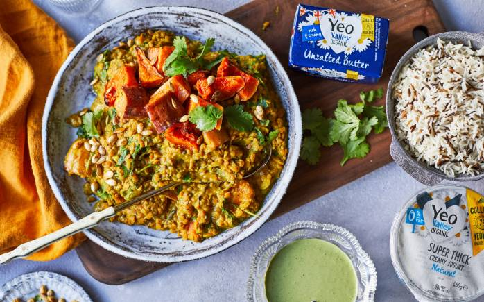 Yeo Valley Organic Squash, Sweet Potato & Red Lentil Curry Recipe