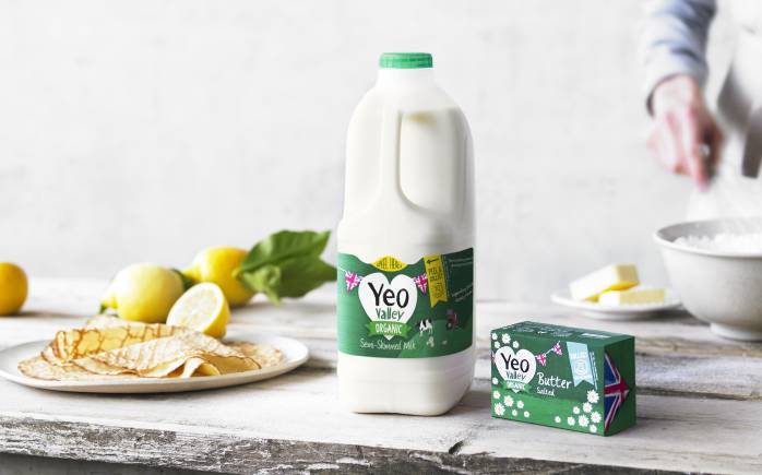 Yeo Valley organic milk and butter used to make pancakes