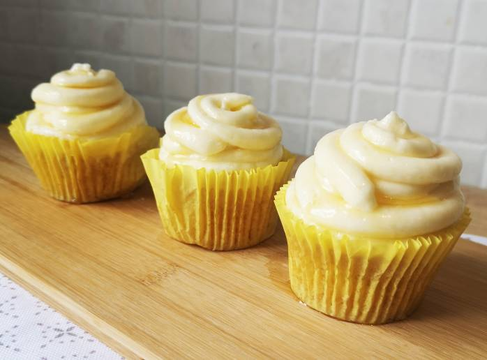 Beehive cupcakes made with Yeo Valley organic butter