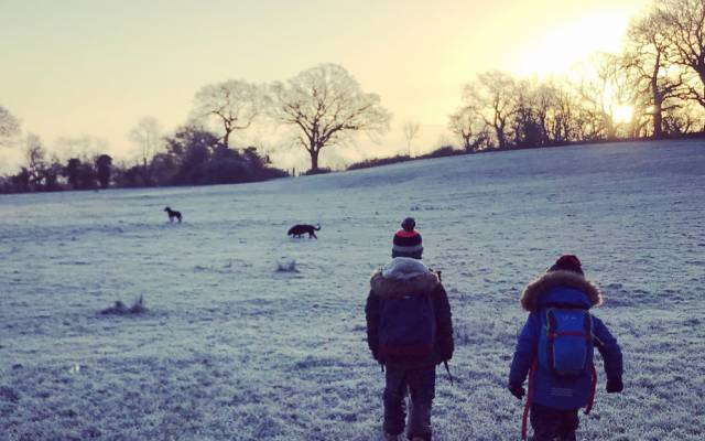 GoWildGoWest winter walk with Yeo Valley Organic