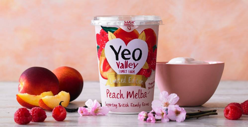 Yeo Valley Organic peach melba lifestyle