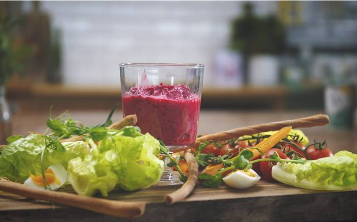 beetroot and Yeo Valley organic natural yogurt dip recipe