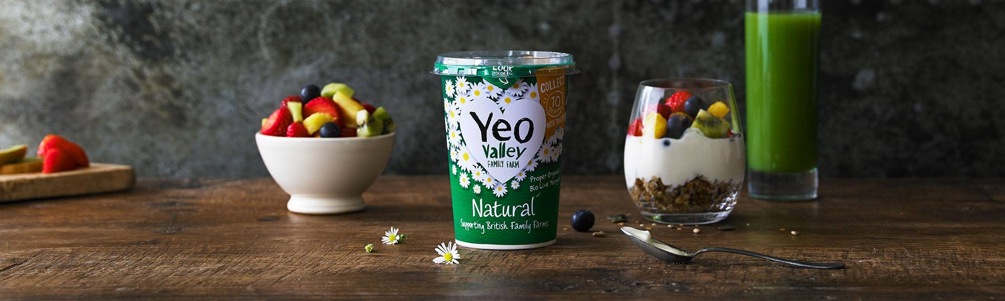 yeo valley organic natural yogurt made in somerset