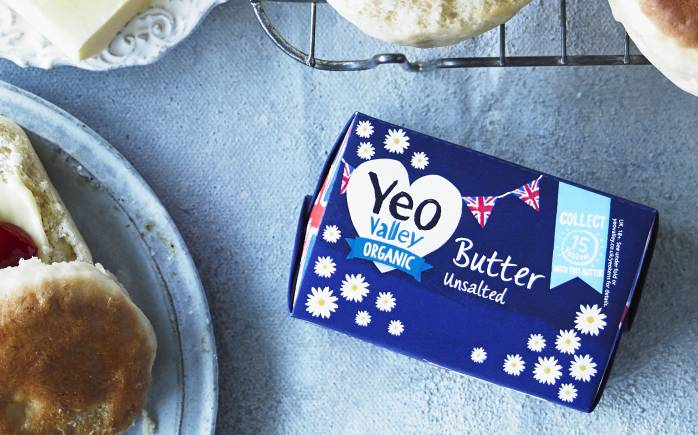 Yeo Valley Unsalted Butter organic and good on crumpets