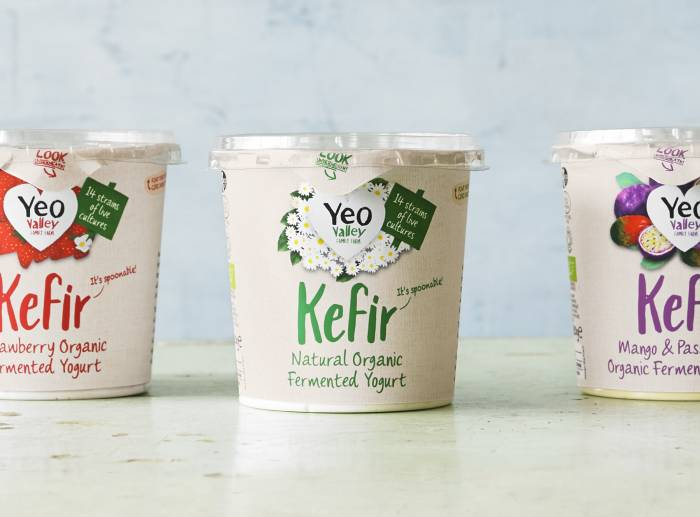 Kefir range of 3 flavours lifestyle shot