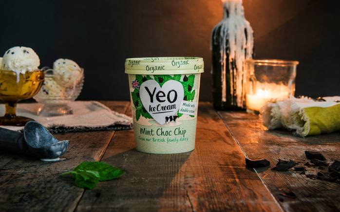 Yeo Valley Organic Mint Choc Chip ice cream