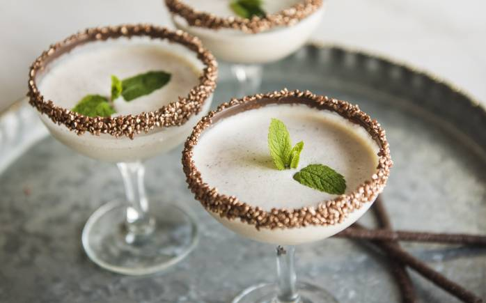 Mint Choc Chip rum milkshake cocktail