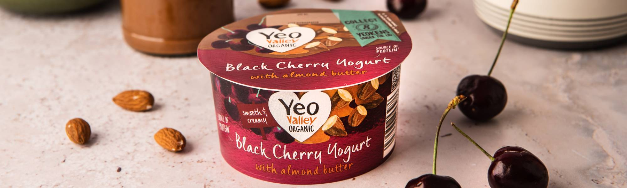 Yeo Valley Organic Almond butter yogurts
