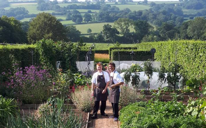 Cooking event in the Yeo Valley Organic Garden