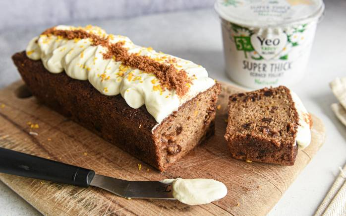 Yeo Valley Organic Super Thick is a great topping for this pumpkin cake