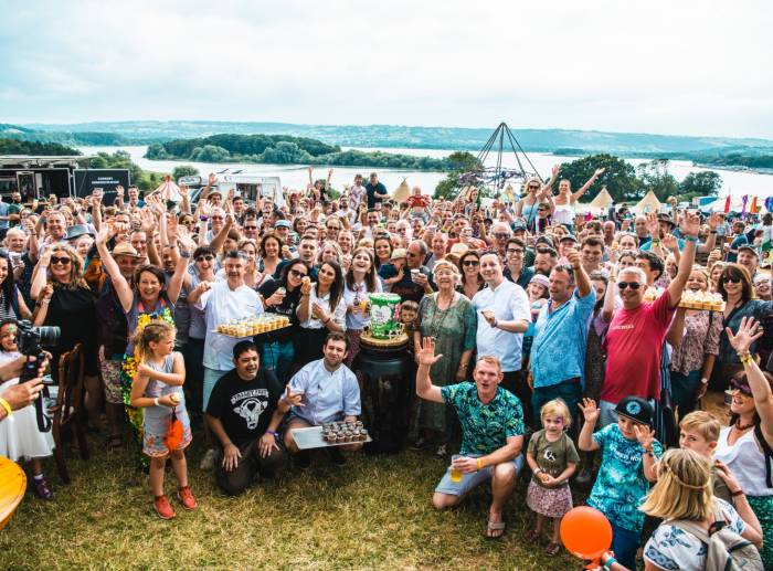 Birthday party for Yeo Valley at organic food festival Valley Fest