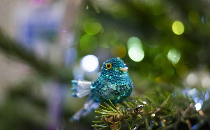 Christmas Tree decorations at Yeo Valley HQ in Somerset